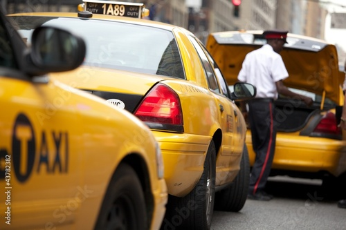 Staande foto New York TAXI Yellow Cap