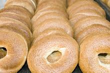 Fresh Israeli Bagel Bread  Photographed In Jerusalem Israel