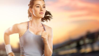 Fototapeta samoprzylepna girl in sport