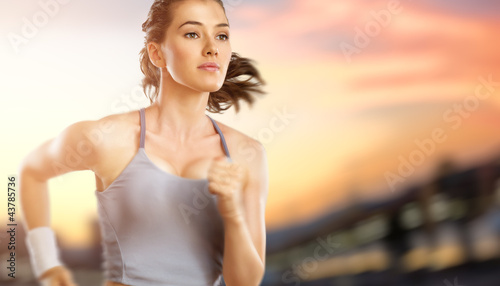 girl in sport Canvas Print