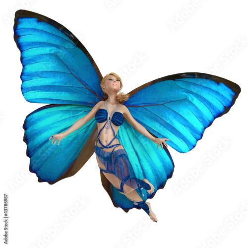 La pose en embrasure Fées, elfes elf butterfly is flying