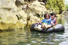 Having Fun In The River