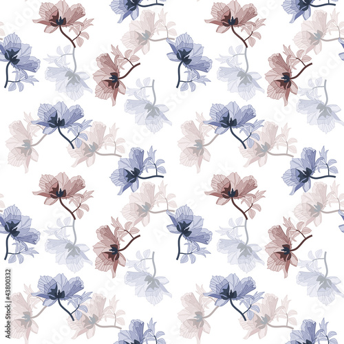 Keuken foto achterwand Abstract bloemen Vintage floral background