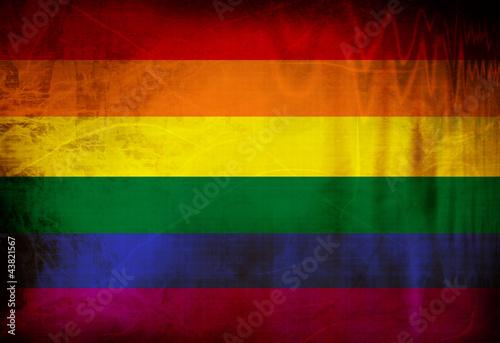 Gay pride flag Wallpaper Mural
