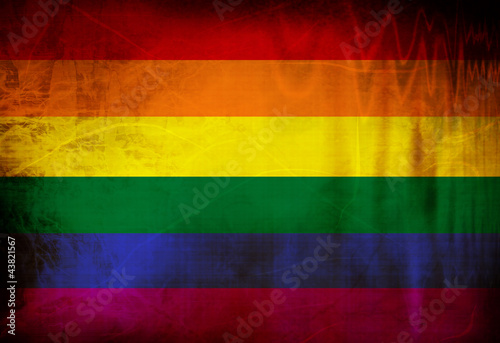 Canvas Print Gay pride flag