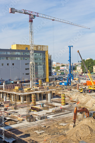 Foto op Plexiglas Stadion Building site