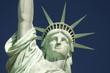 Statue of Liberty Close-Up Blue Sky Horizontal