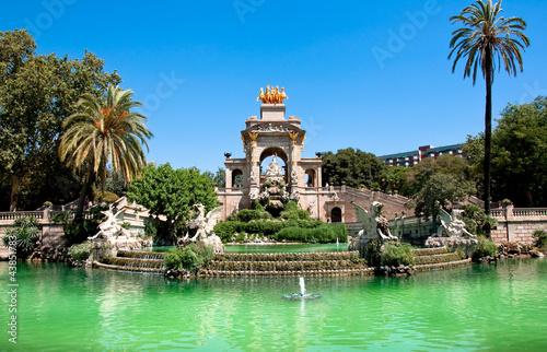 In de dag Barcelona The Parc de la Ciutadella. Barcelona.