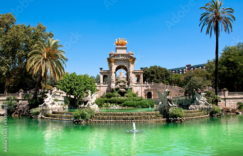 Keuken foto achterwand Barcelona The Parc de la Ciutadella. Barcelona.