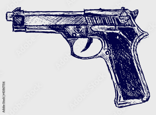 Fotografia Handgun close-up