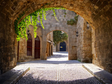 Medieval Arched Street In The ...