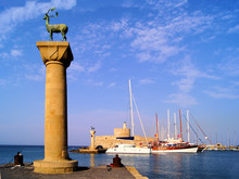 Rhodes Mandraki Harbor, Greece