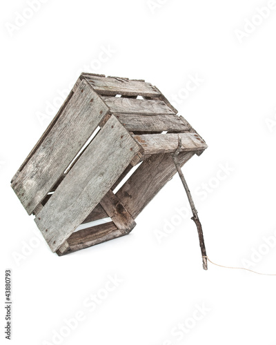 Photo old crate trap