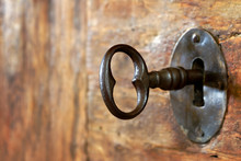Closeup Of An Old Keyhole With...