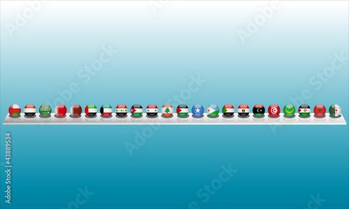 Leinwand Poster drapeaux pays arabes