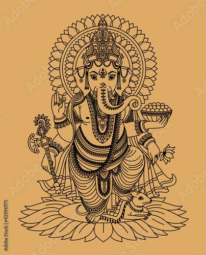Canvastavla  Indian god Ganesha