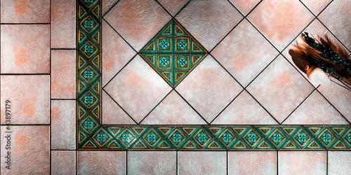 piastrelle toni verde – kaufen Sie dieses Foto und finden Sie ...