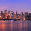 New York City Manhattan dusk panorama