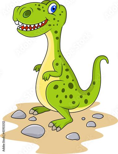Wall Murals Dinosaurs Funny dinosaur