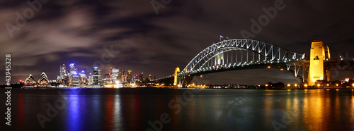 Staande foto Sydney City at night (Sydney, Australia)