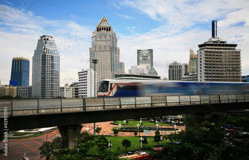 Poster Chicago Bangkok BTS Skytrain