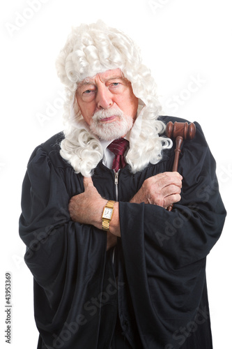 Fotografija  British Judge - Stern and Serious