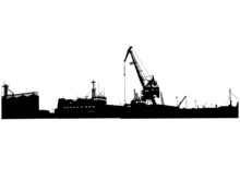 Silhouette Of Port Buildings