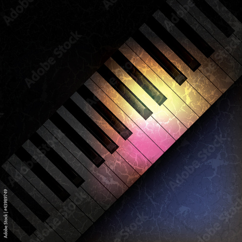 Fotobehang Stof abstract grunge music background with piano
