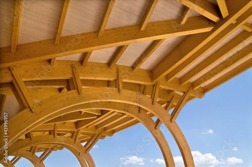 Fotografie, Obraz  copertura in legno