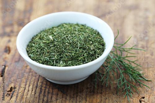 Leinwand Poster Dried Herbs - Dill