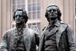 canvas print picture - Goethe Schiller Denkmal
