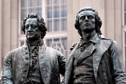 Goethe Schiller Denkmal Fototapete