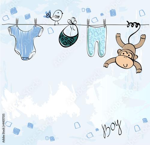 Fotografía  Cute scrapbook  for boy with baby elements.