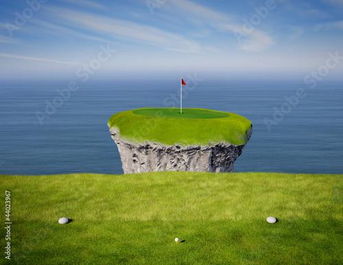 Deurstickers Golf Hole in One