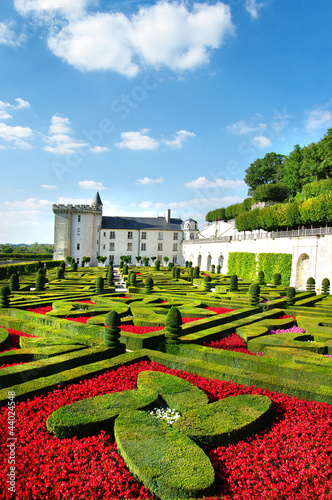 Poster Paris beautiful castles of Loire valley - Villandry