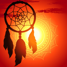 Dream Catcher, Silhouette Of A...