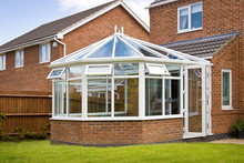 Conservatory With Glass Roof A...