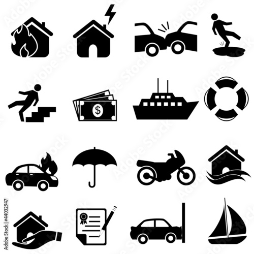 Fotografie, Obraz  Insurance icon set