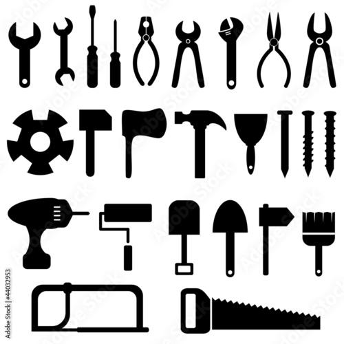 Fotografie, Obraz  Tools icon set