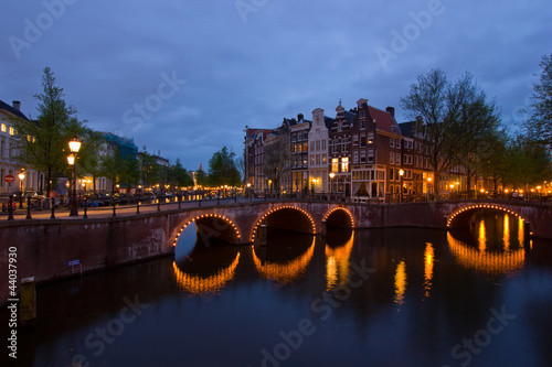 Photo  canals of Amsterdam,  Netherlands