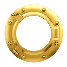 3d Porthole In Brass
