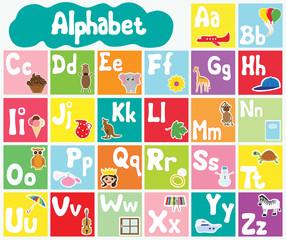Fototapeta samoprzylepna Kids alphabet