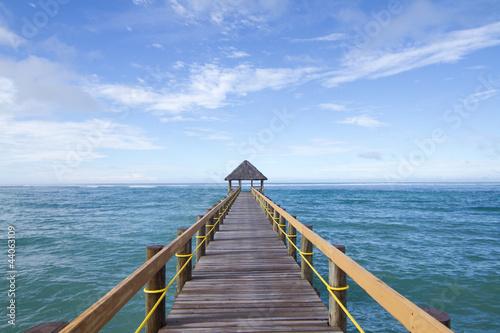 Fotobehang Pier Fijian Jetty