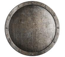 Old Round Metal Medieval Shield