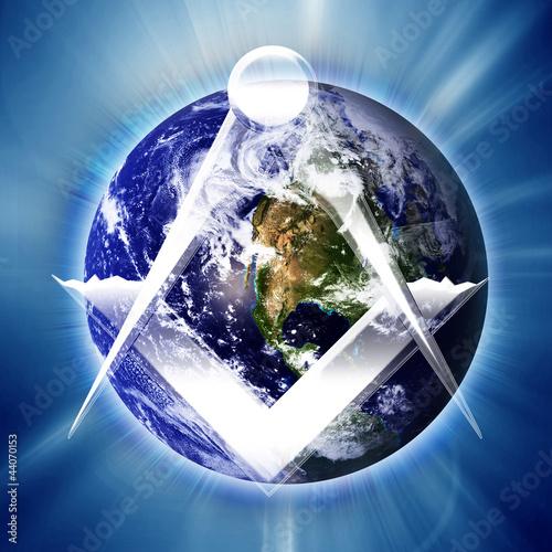 Fotografia, Obraz  Masonic square and compass