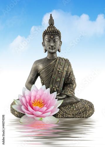 Plissee mit Motiv - Bouddha zen