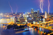 Lightning in Downtown Pittsburgh