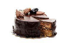 Chocolate Cake With Walnuts And Prunes.