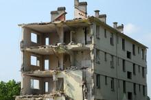 France, Demolition Of An Old B...