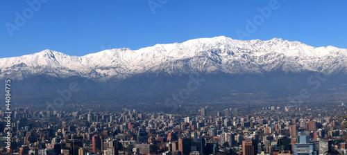 Photo  Panorama Santiago de Chile mit Anden